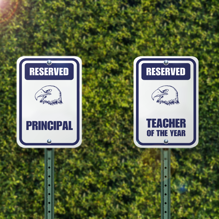 Reserved Space Parking Signs